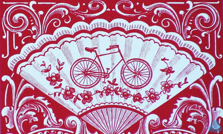 Bicycle Vintage Fan Back