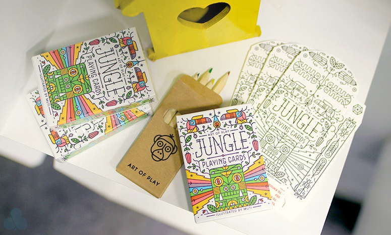 Jungle Deck Colouring Kit